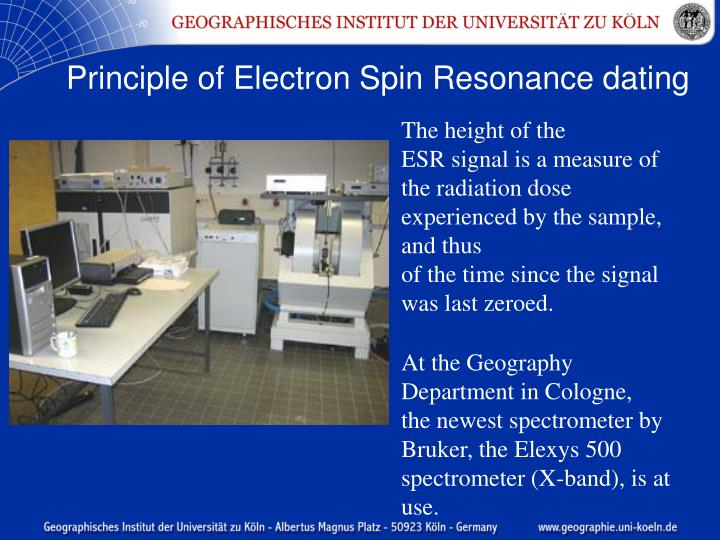 Electron spin resonance dating technique