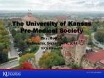 the university of kansas pre medical society