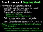 conclusions and ongoing work