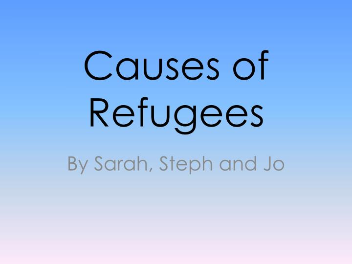 causes of refugees n.