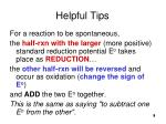 helpful tips