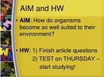 aim and hw1