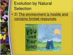 evolution by natural selection1