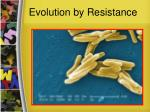 evolution by resistance