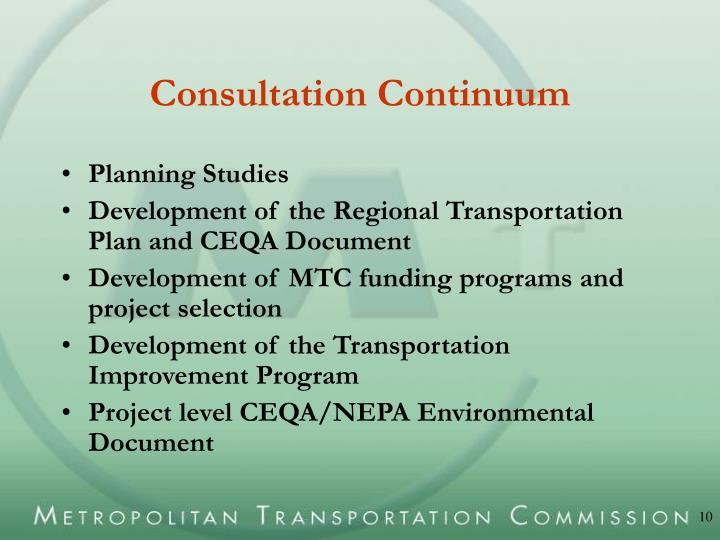 Consultation Continuum