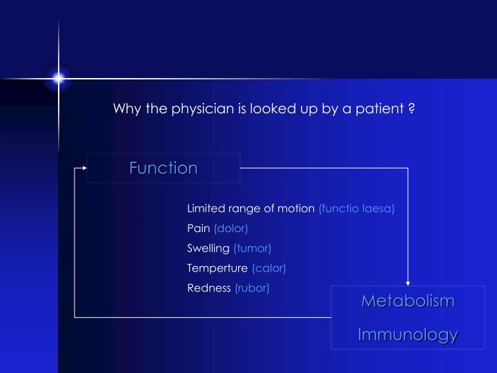 Why the physician is looked up by a patient ?