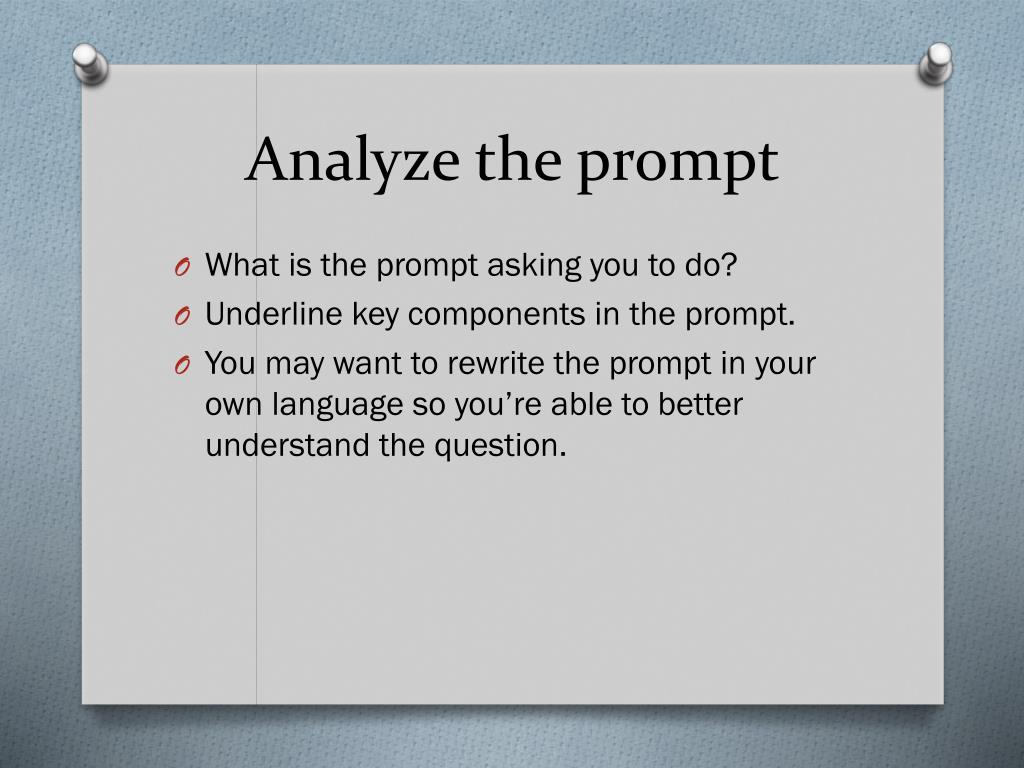 PPT - Effectively Responding to a Narrative Prompt ...