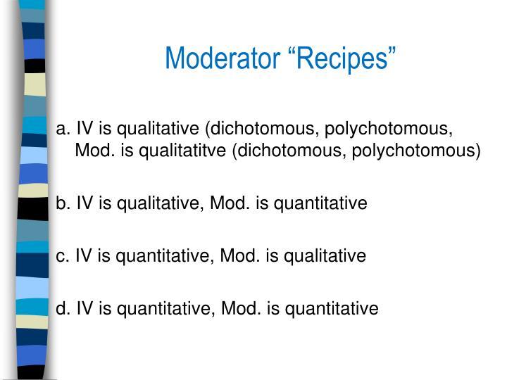 "Moderator ""Recipes"""