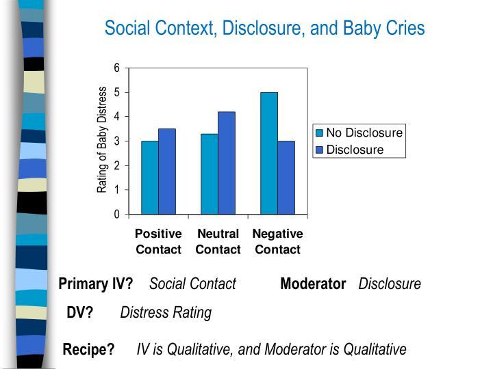 Social Context, Disclosure, and Baby Cries