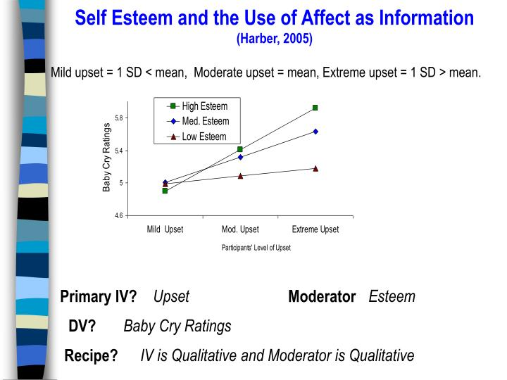 Self Esteem and the Use of Affect as Information