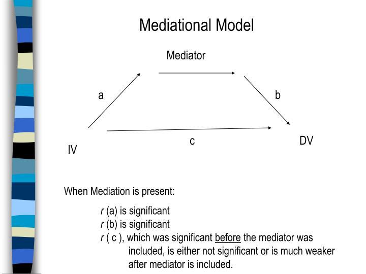 Mediational Model