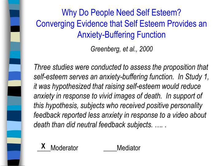 Why Do People Need Self Esteem?