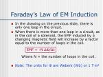 faraday s law of em induction