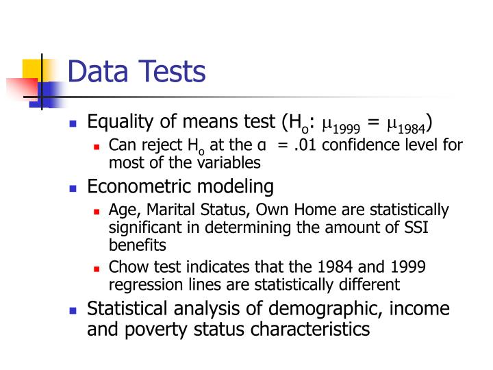 Data Tests