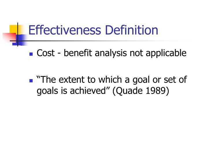 Effectiveness Definition
