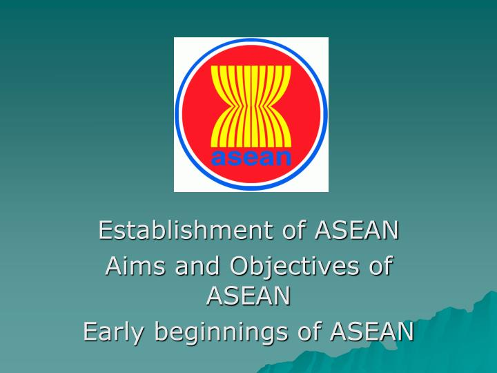 aims of asean