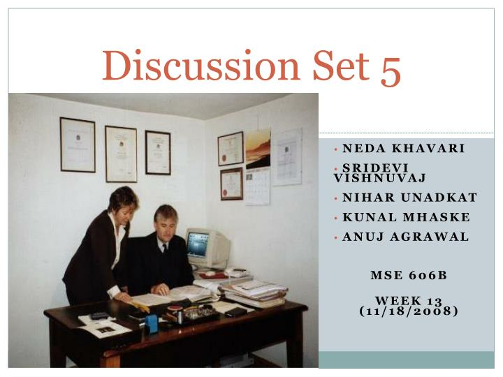 discussion set 5 n.