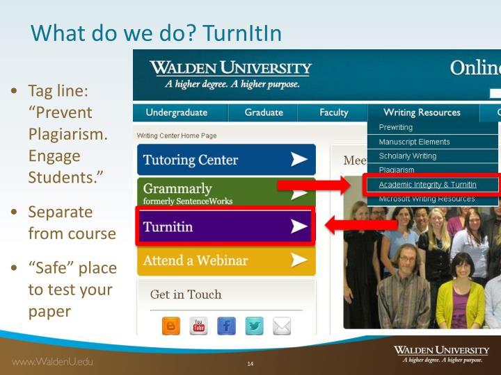 What do we do? TurnItIn