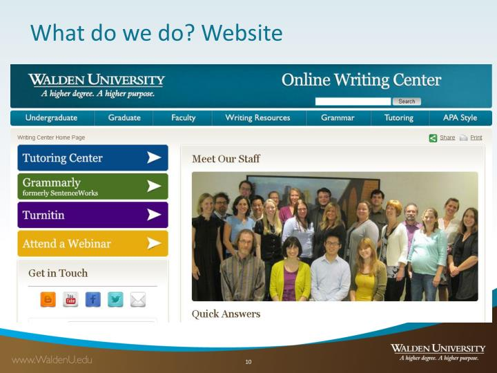 What do we do? Website