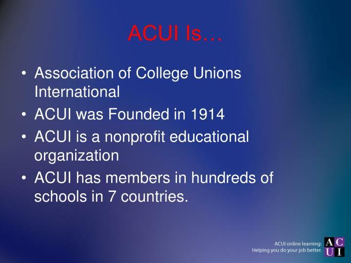 Acui is