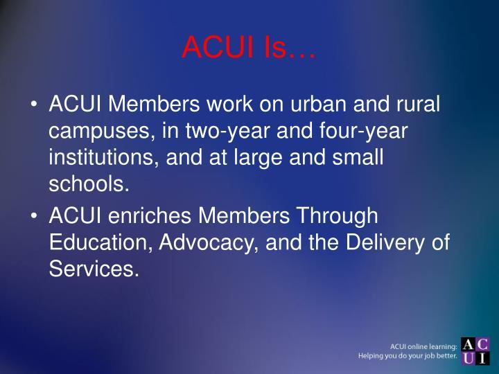 Acui is1