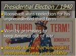 presidential election 1940