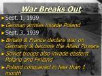 war breaks out