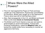 where were the allied powers