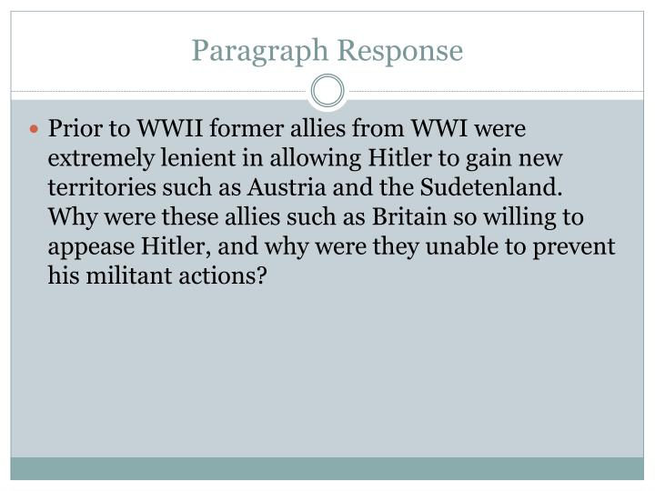 Paragraph Response
