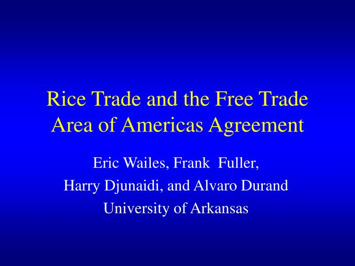 the free trade area of the americas