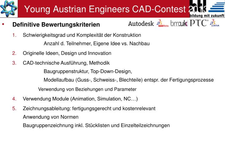 Young Austrian Engineers CAD-Contest 2013