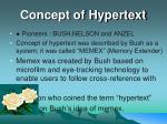 concept of hypertext