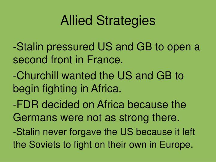 Allied Strategies