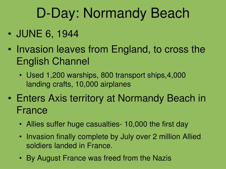 D-Day: Normandy Beach
