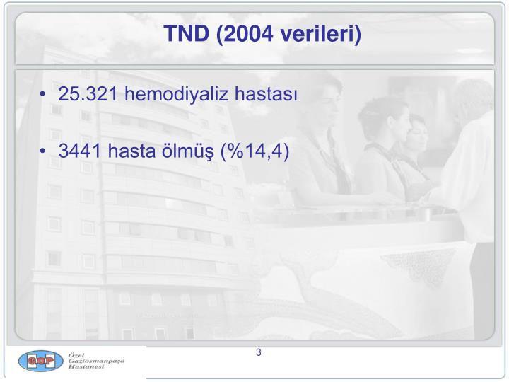 Tnd 2004 verileri