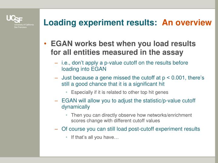 Loading experiment results: