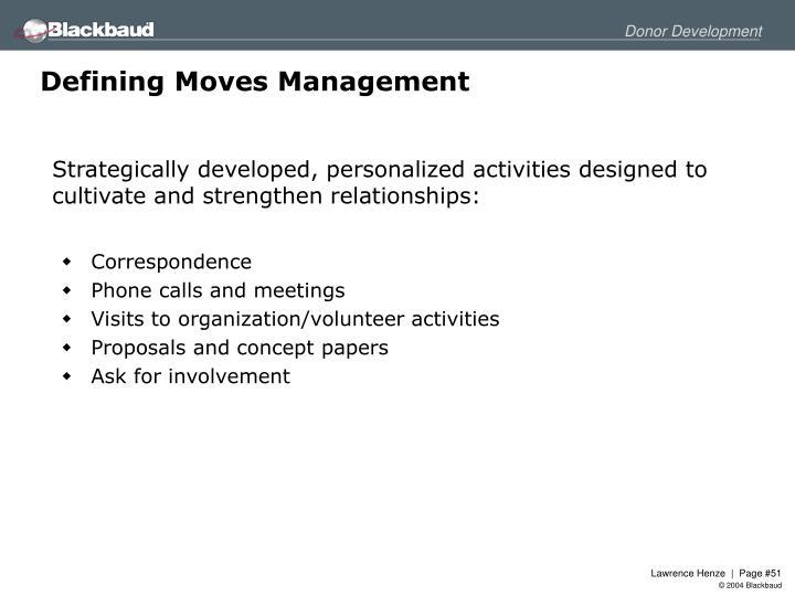 Defining Moves Management