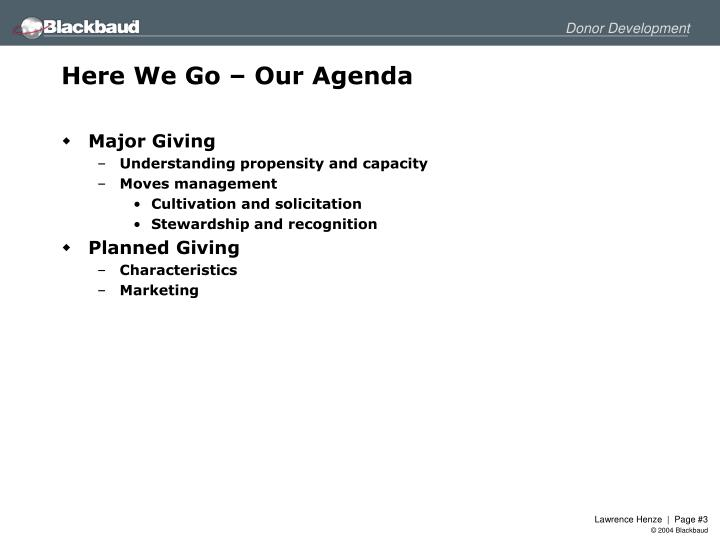 Here we go our agenda1