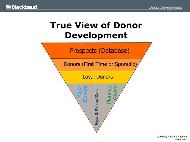 True View of Donor Development