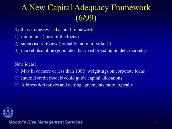A New Capital Adequacy Framework (6/99)