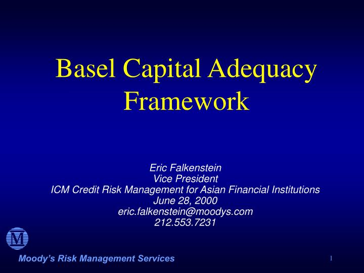 an overview of the capital adequacy standard in economy Full-text paper (pdf): overview of the basel capital adequacy framework.