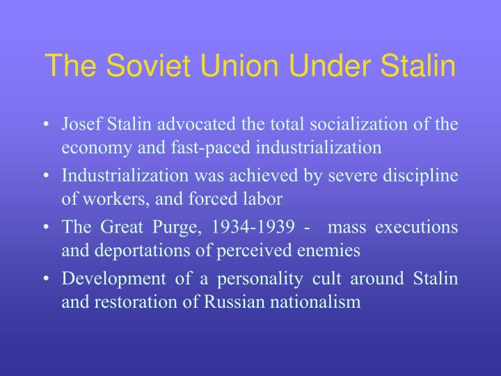 purges ordered by stalin halted russias advancement Petrograd was renamed leningrad in his honor fellow revolutionary joseph stalin succeeded him as leader of leon trotsky's revolutionary activity as a young man spurred his first of several ordered exiles to siberia he waged russia's 1917 revolution (lysenko halted the program.