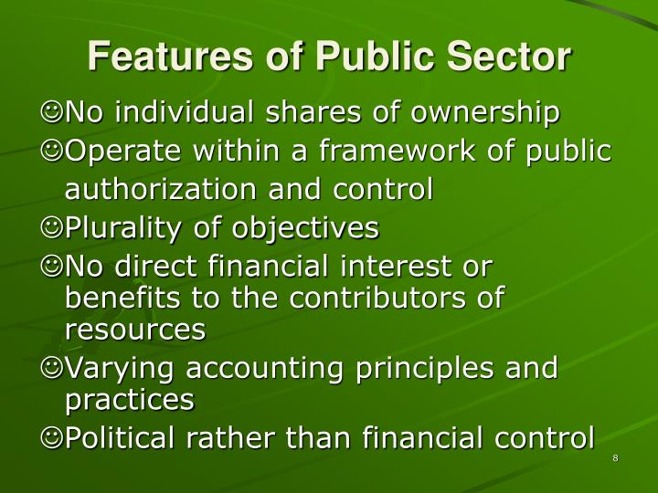 Features of Public Sector