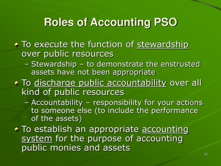 Roles of Accounting PSO
