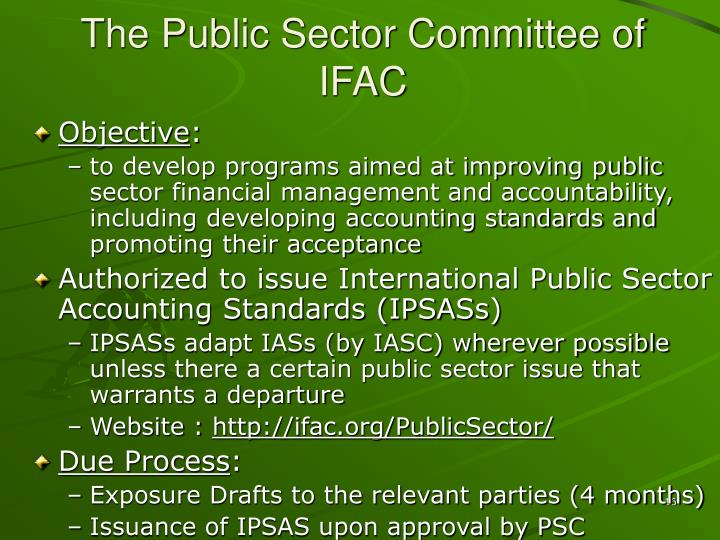 The Public Sector Committee of IFAC