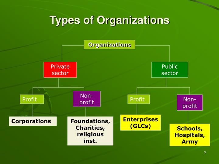 Types of organizations