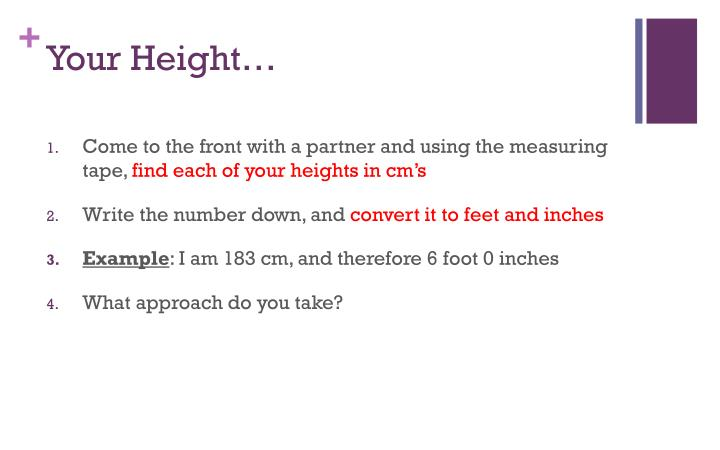 your height n.
