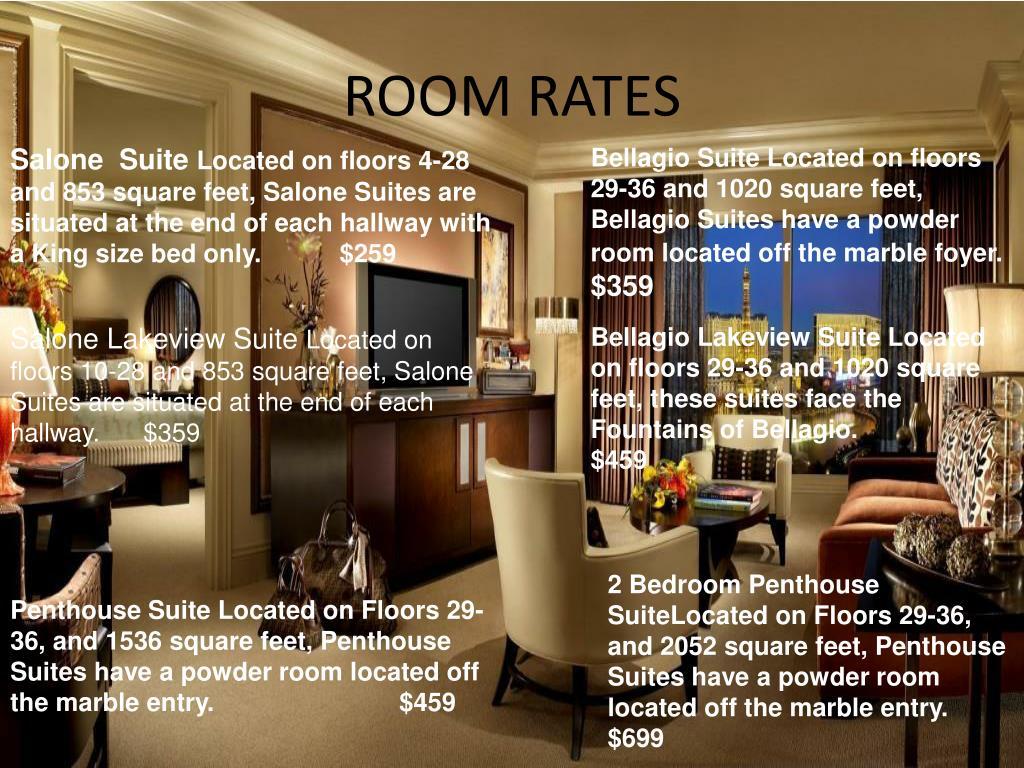 Bellagio 2 Bedroom Penthouse Suite