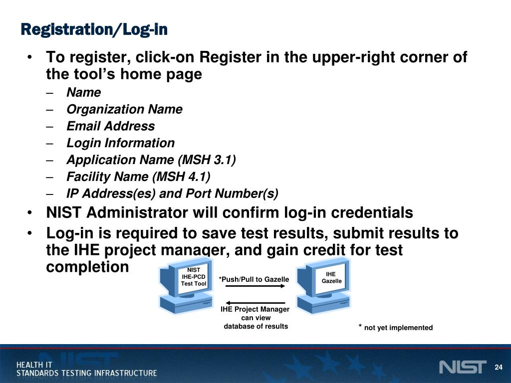 PPT - NIST HL7 V2 IHE-PCD Pre- and Connectathon Test Tools