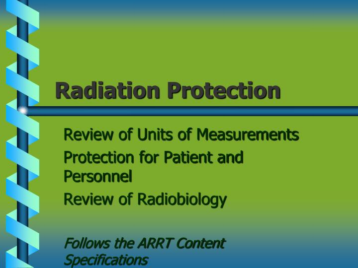 radiation protection n.